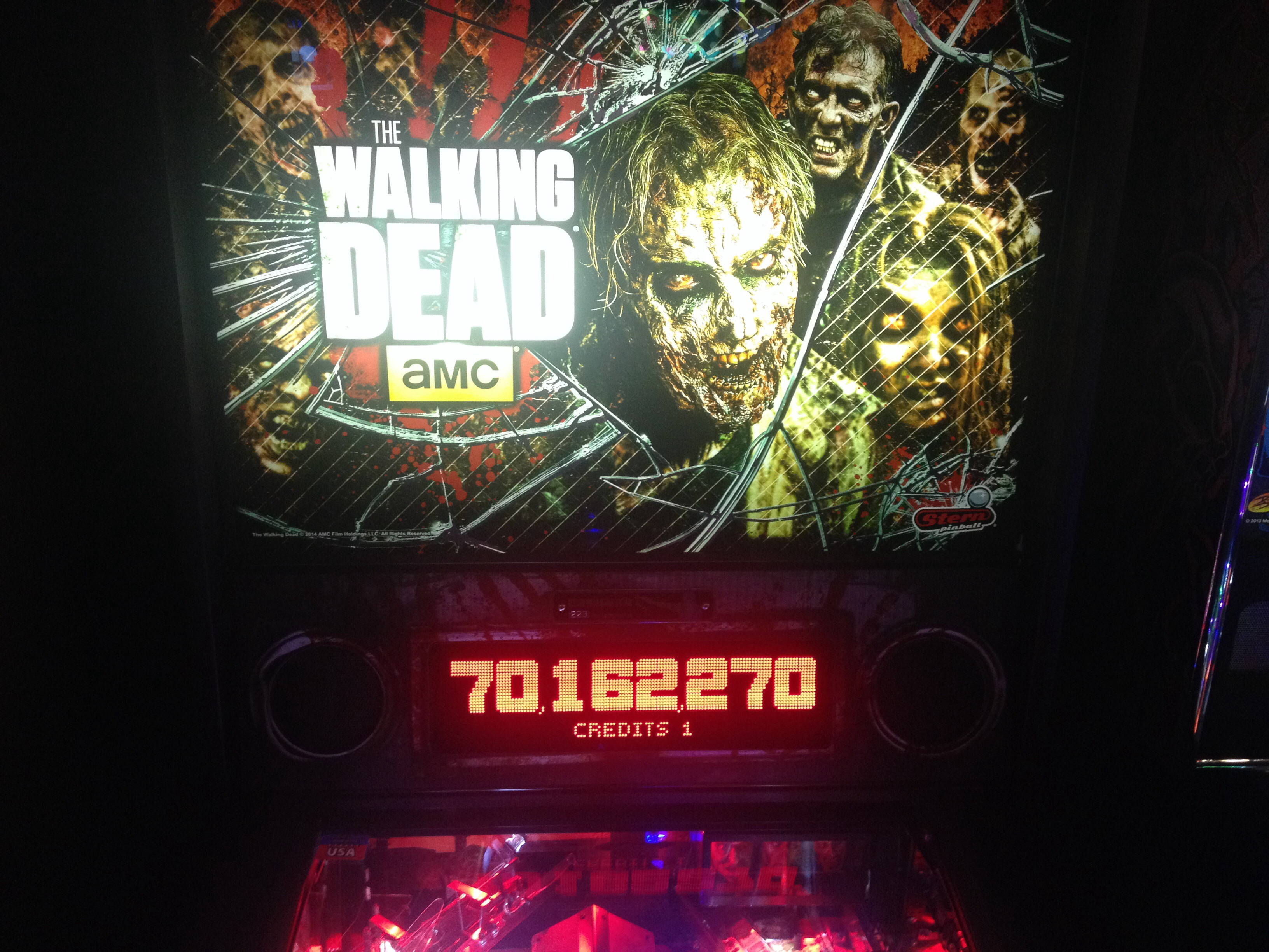 FosterAMF: The Walking Dead (Pinball: 3 Balls) 70,162,270 points on 2015-04-12 16:19:40