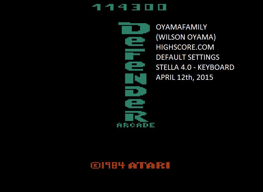 Defender Arcade 114,300 points
