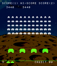 Space Invaders 3,440 points