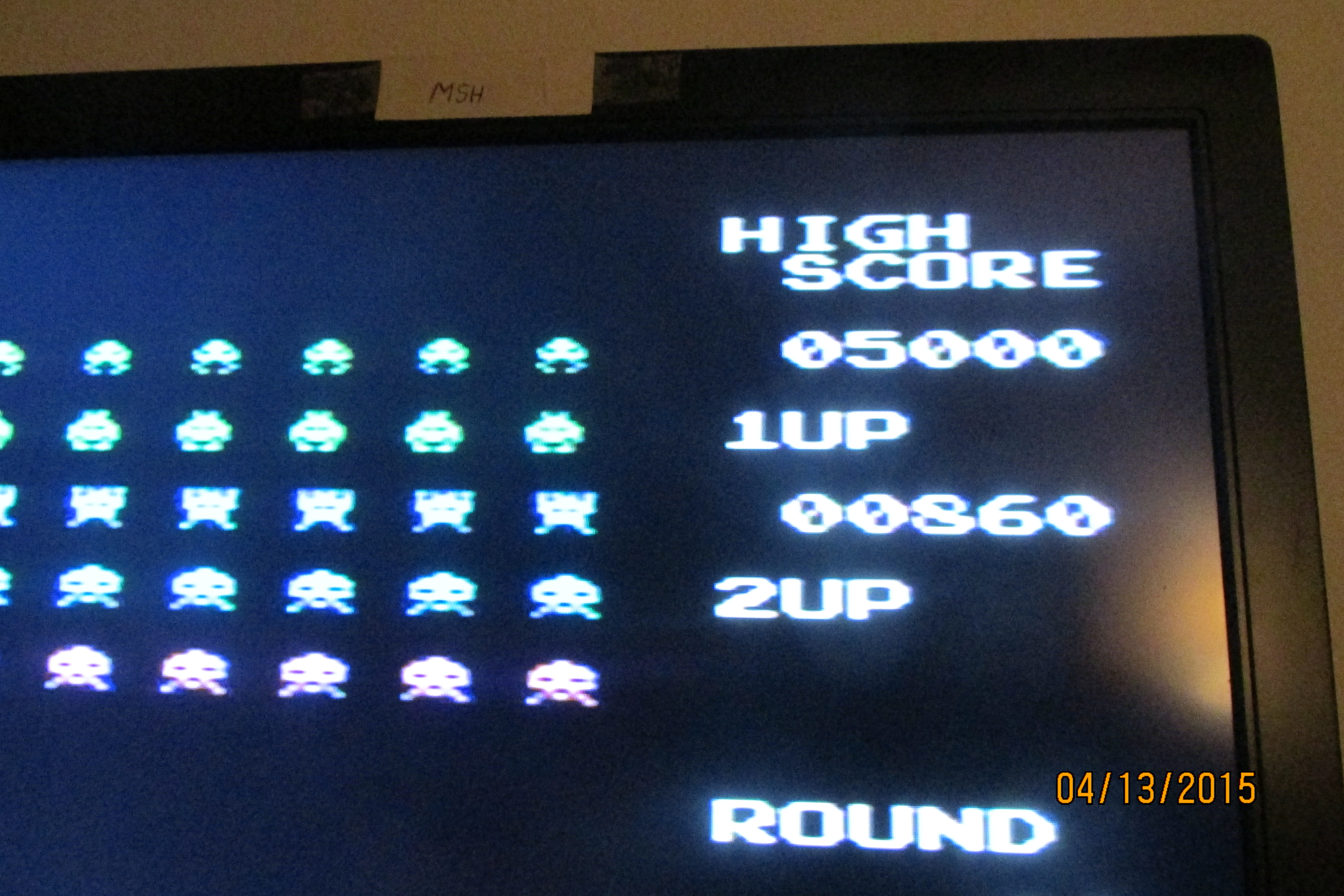 Space Invaders 860 points