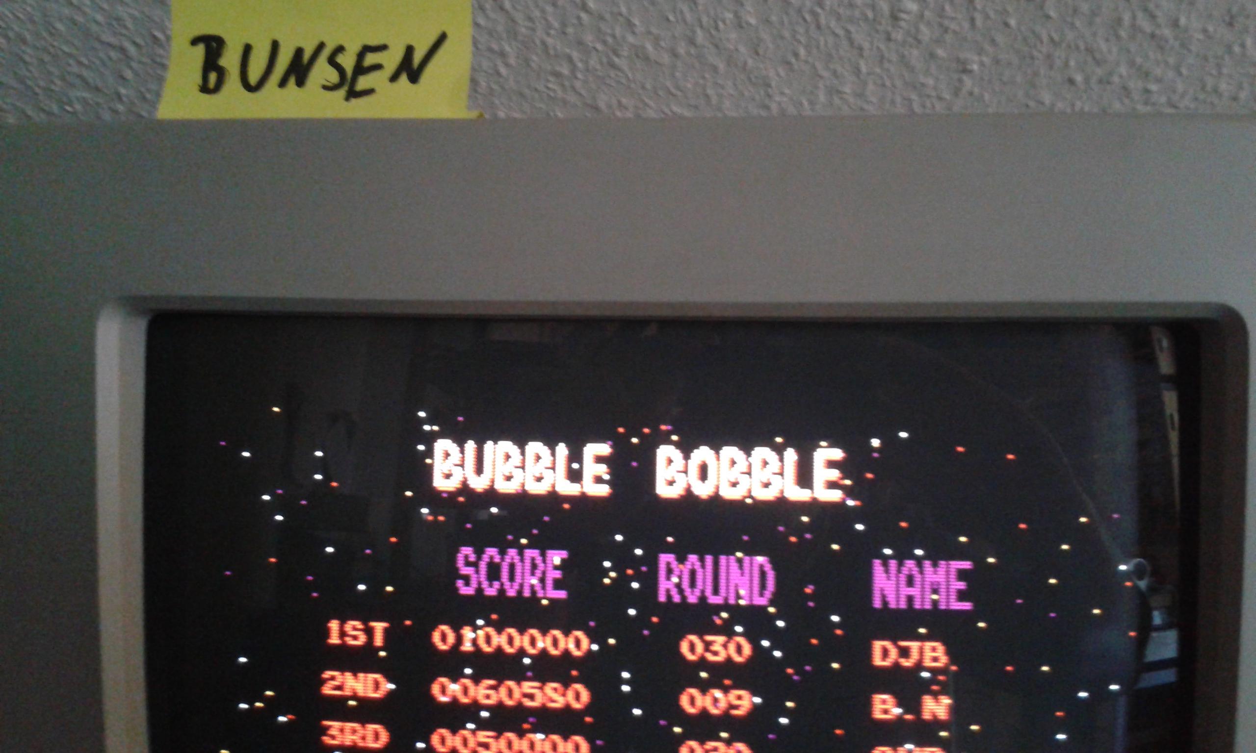 Bunsen: Bubble Bobble (Atari ST) 60,580 points on 2015-04-17 12:20:39