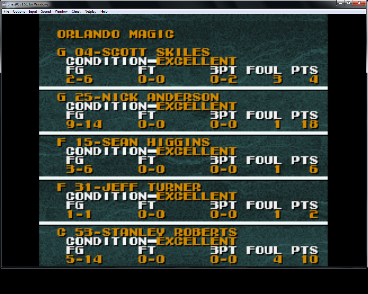 bubufubu: Tecmo Super NBA Basketball [Point Difference] (SNES/Super Famicom Emulated) 91 points on 2015-04-17 16:19:05