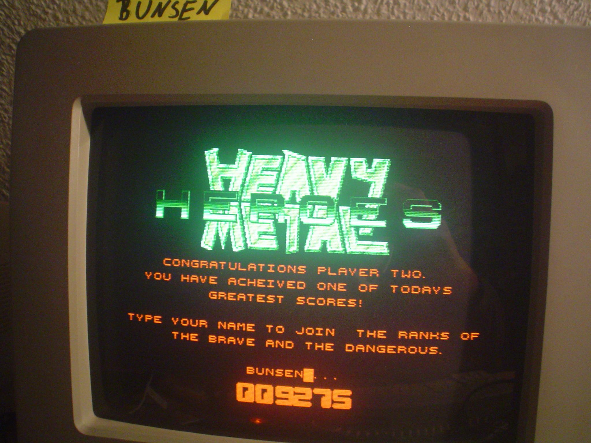 Bunsen: Heavy Metal Heroes (Atari ST) 9,275 points on 2015-04-18 08:55:44