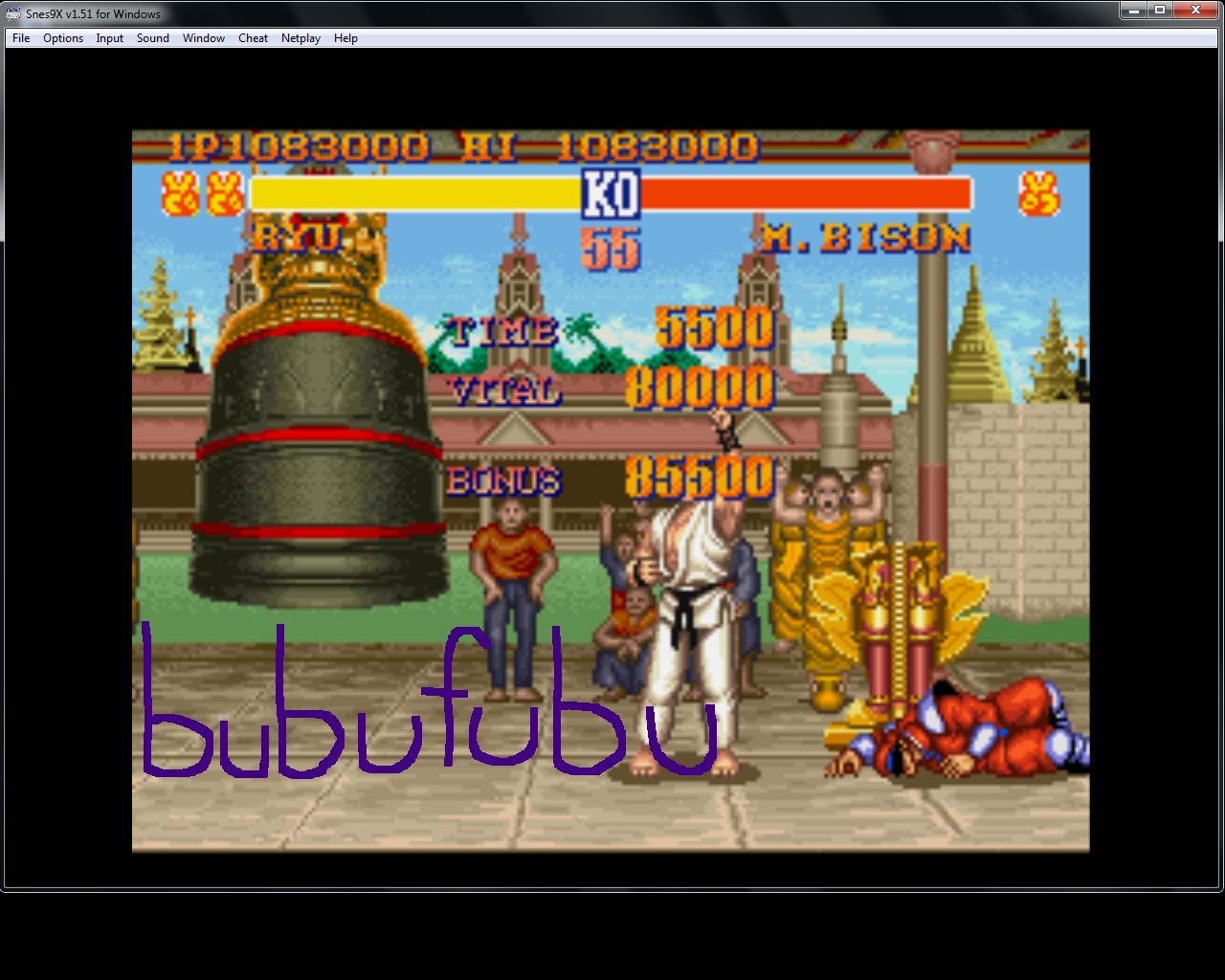 bubufubu: Street Fighter II: The World Warrior (SNES/Super Famicom Emulated) 1,083,000 points on 2015-04-18 12:56:19