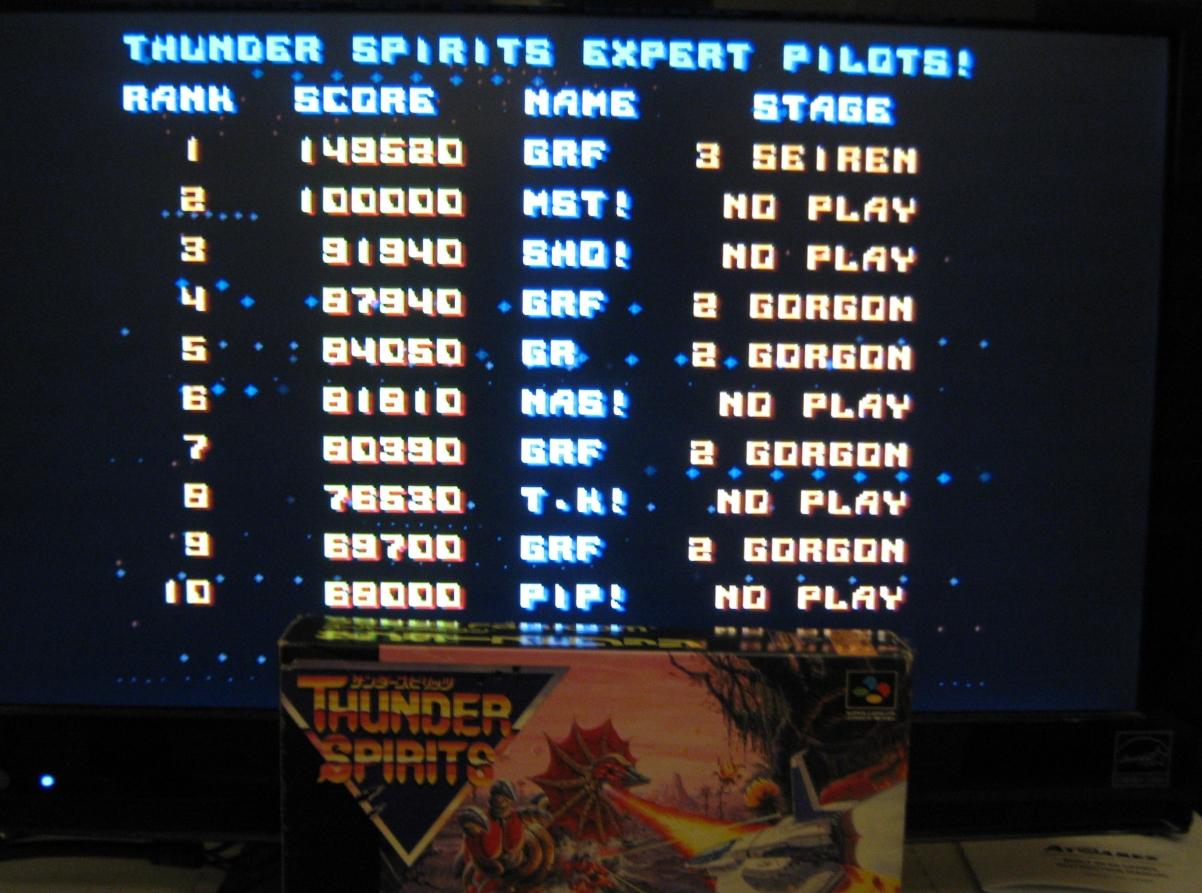 Thunder Spirits 149,520 points
