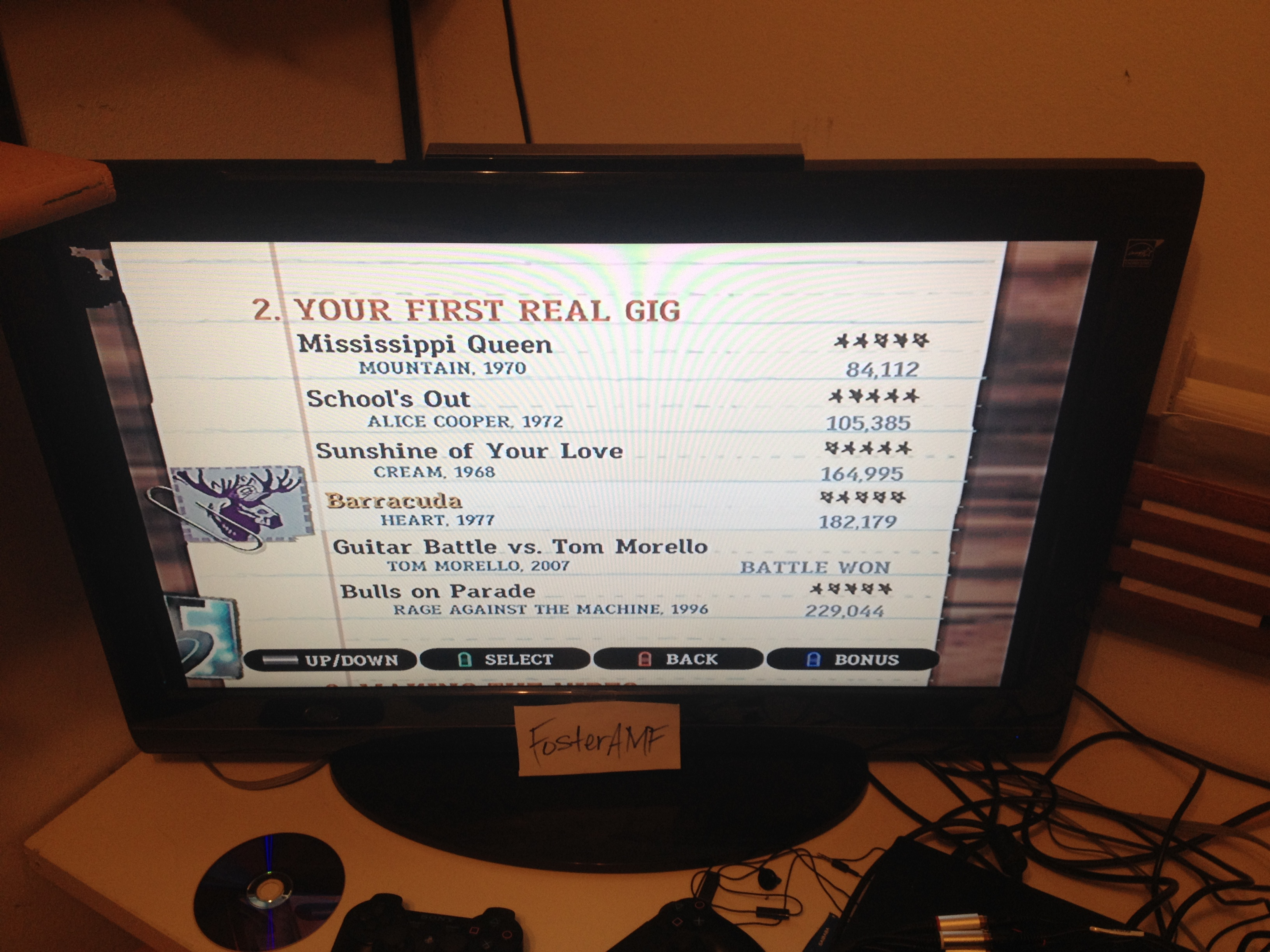 """FosterAMF: Guitar Hero III: Legends of Rock: """"Bulls on Parade"""" [Expert] (Wii) 229,044 points on 2015-04-18 23:19:47"""