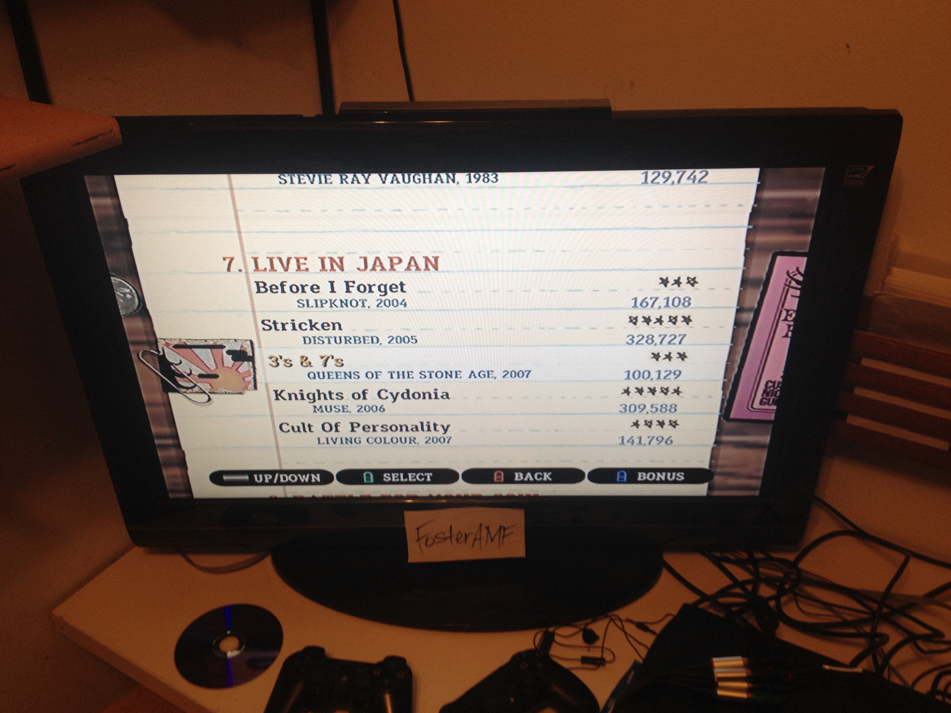 """FosterAMF: Guitar Hero III: Legends of Rock: """"Cult of Personality"""" [Expert] (Wii) 141,796 points on 2015-04-18 23:37:30"""