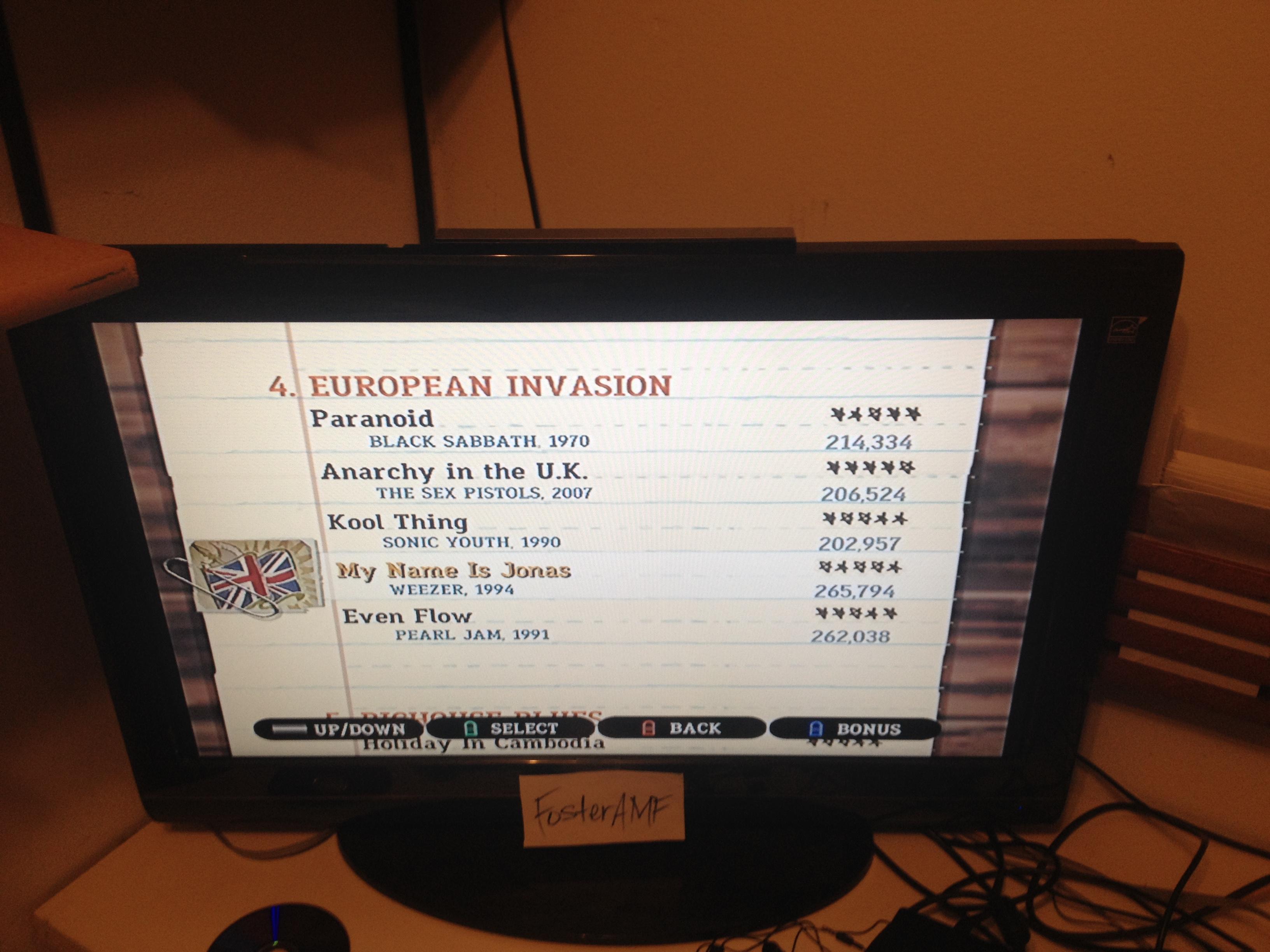 """FosterAMF: Guitar Hero III: Legends of Rock: """"Even Flow"""" [Expert] (Wii) 262,038 points on 2015-04-18 23:43:04"""