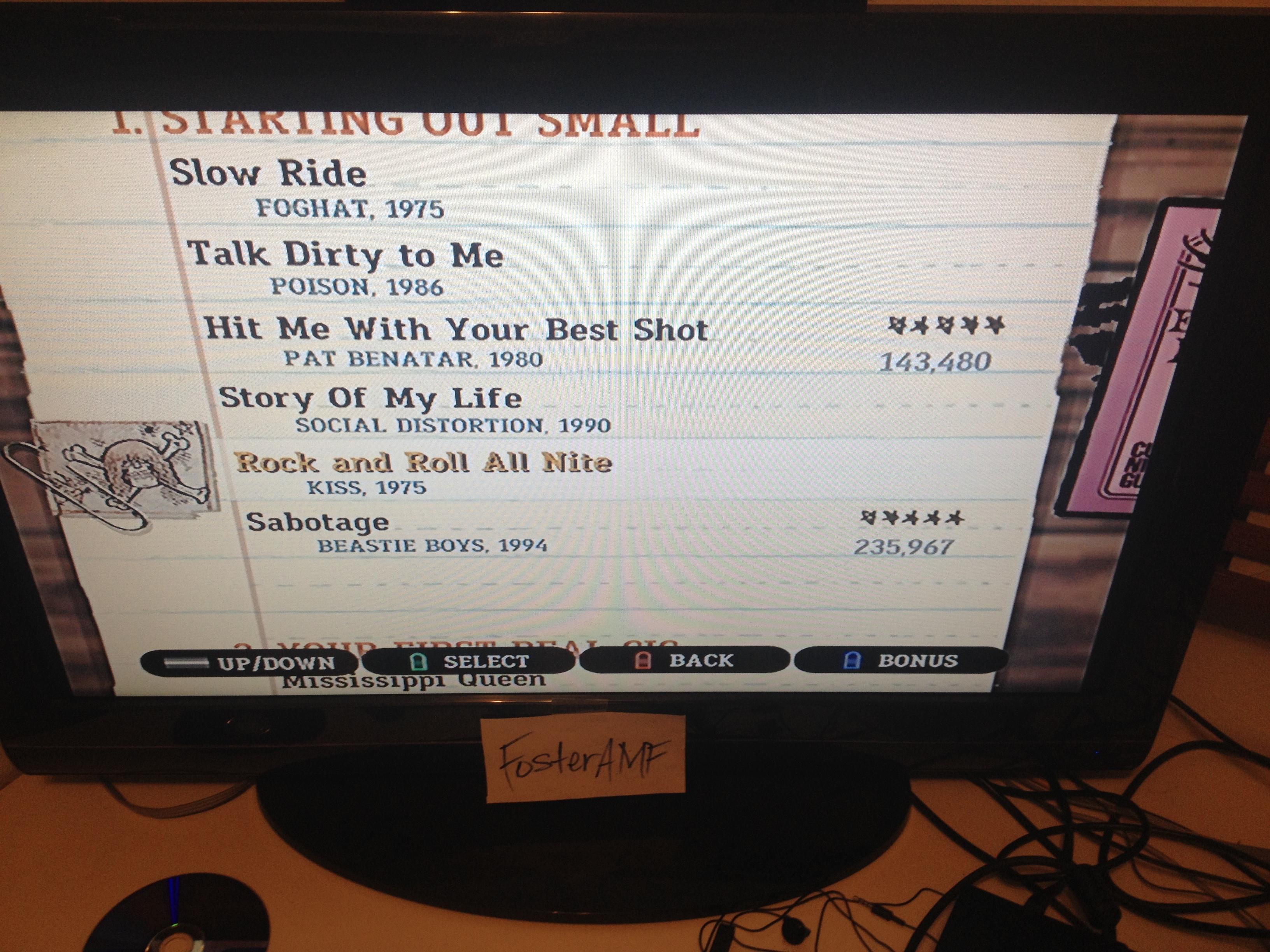 "FosterAMF: Guitar Hero III: Legends of Rock: ""Sabotage"" [Expert] (Wii) 235,967 points on 2015-04-19 00:44:19"