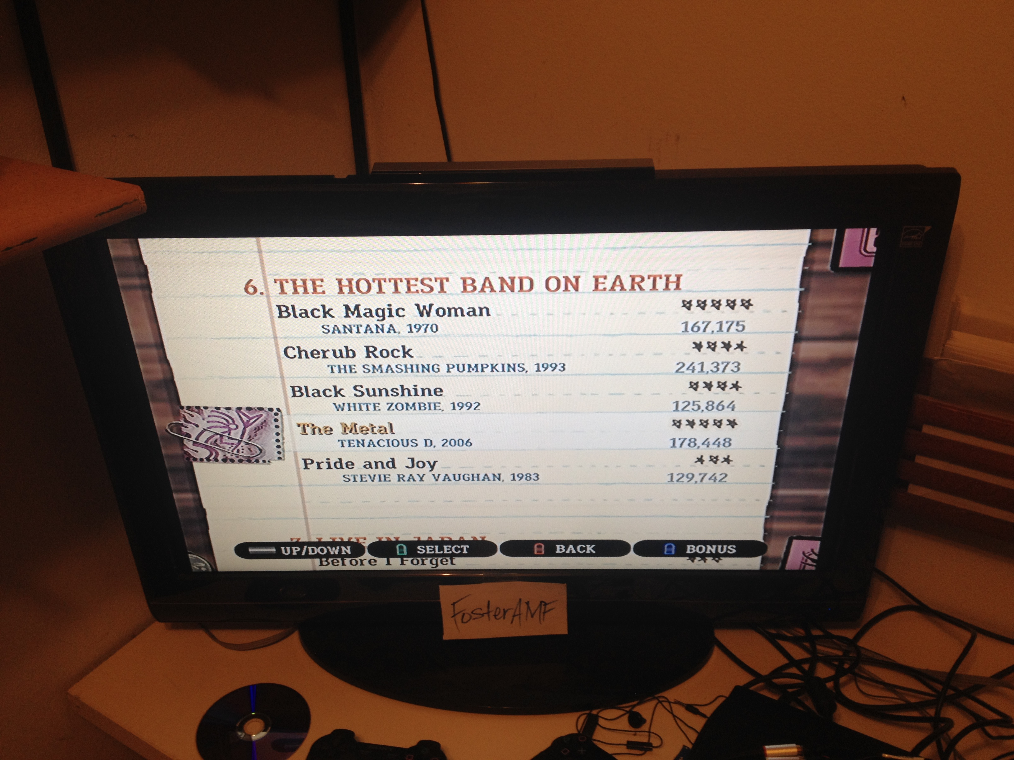 "FosterAMF: Guitar Hero III: Legends of Rock: ""The Metal"" [Expert] (Wii) 178,448 points on 2015-04-19 01:02:56"
