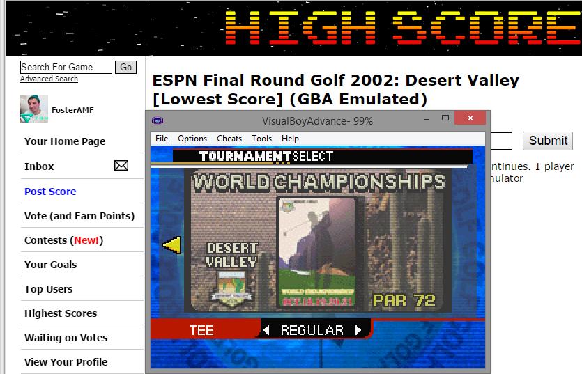 FosterAMF: ESPN Final Round Golf 2002: Desert Valley [Lowest Score] (GBA Emulated) 55 points on 2015-04-19 17:11:53
