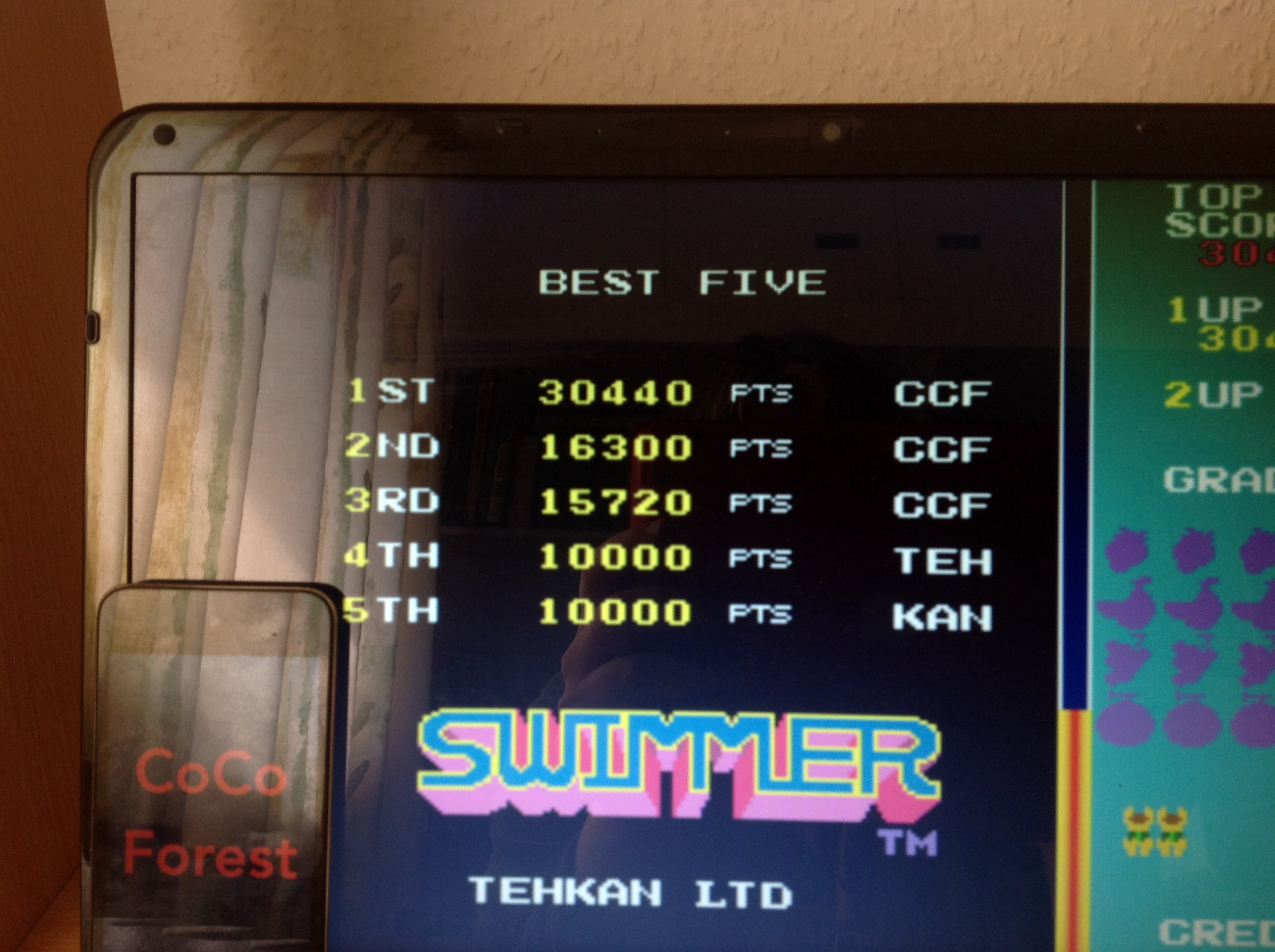 CoCoForest: Swimmer [swimmer] (Arcade Emulated / M.A.M.E.) 30,440 points on 2015-04-21 07:00:09
