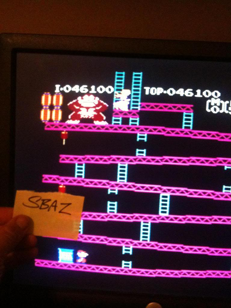 Donkey Kong 46,100 points