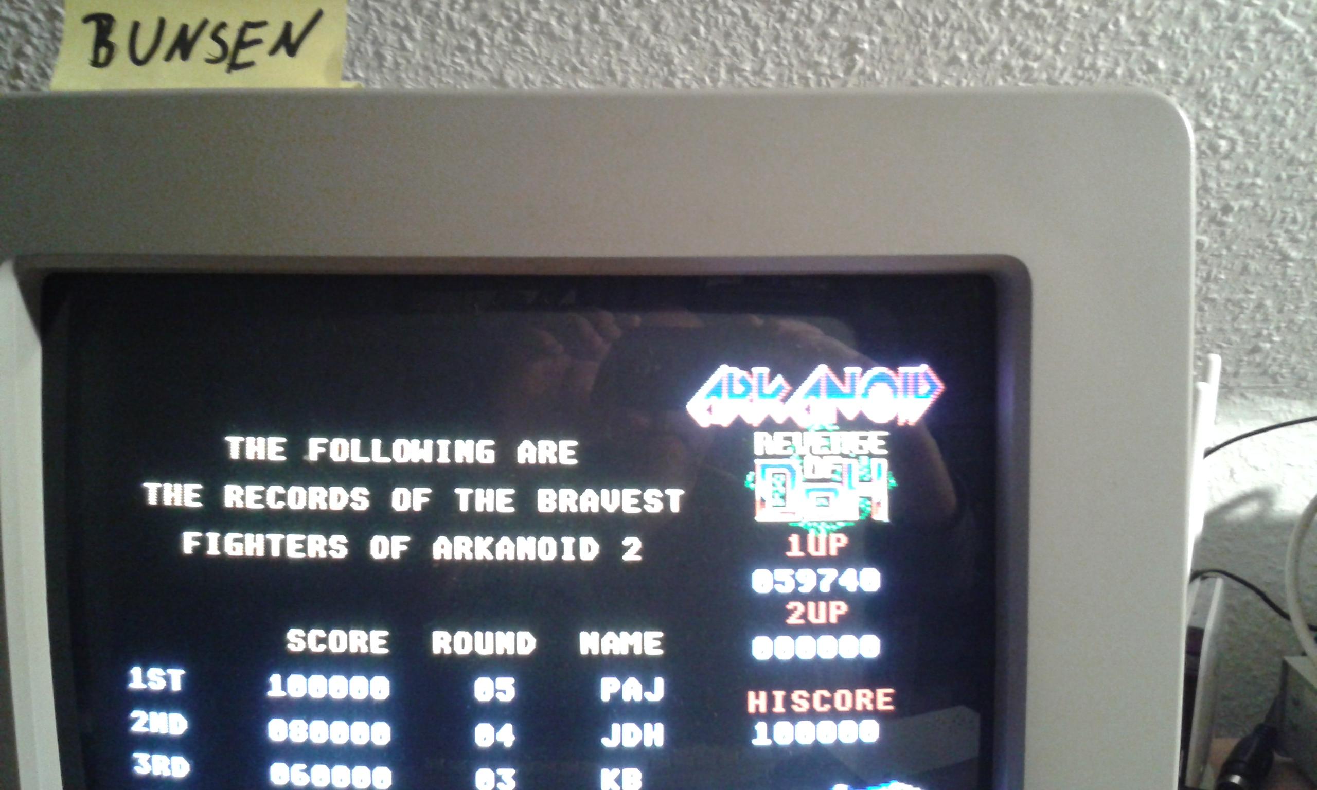 Bunsen: Arkanoid: Revenge of Doh (Atari ST) 59,740 points on 2015-04-24 14:47:02