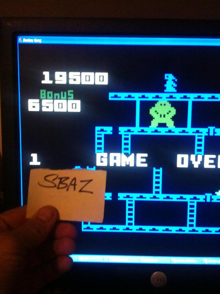 Donkey Kong: Skill 1 19,500 points