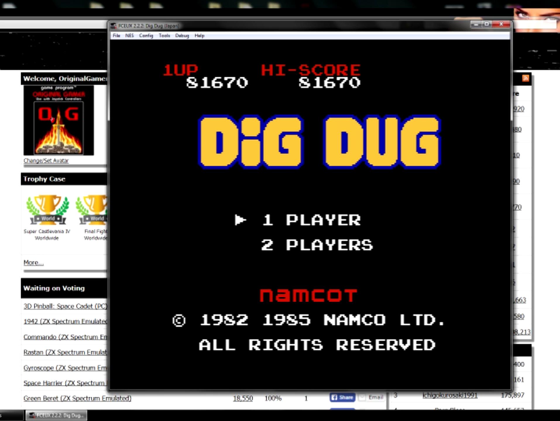 Dig Dug 81,670 points