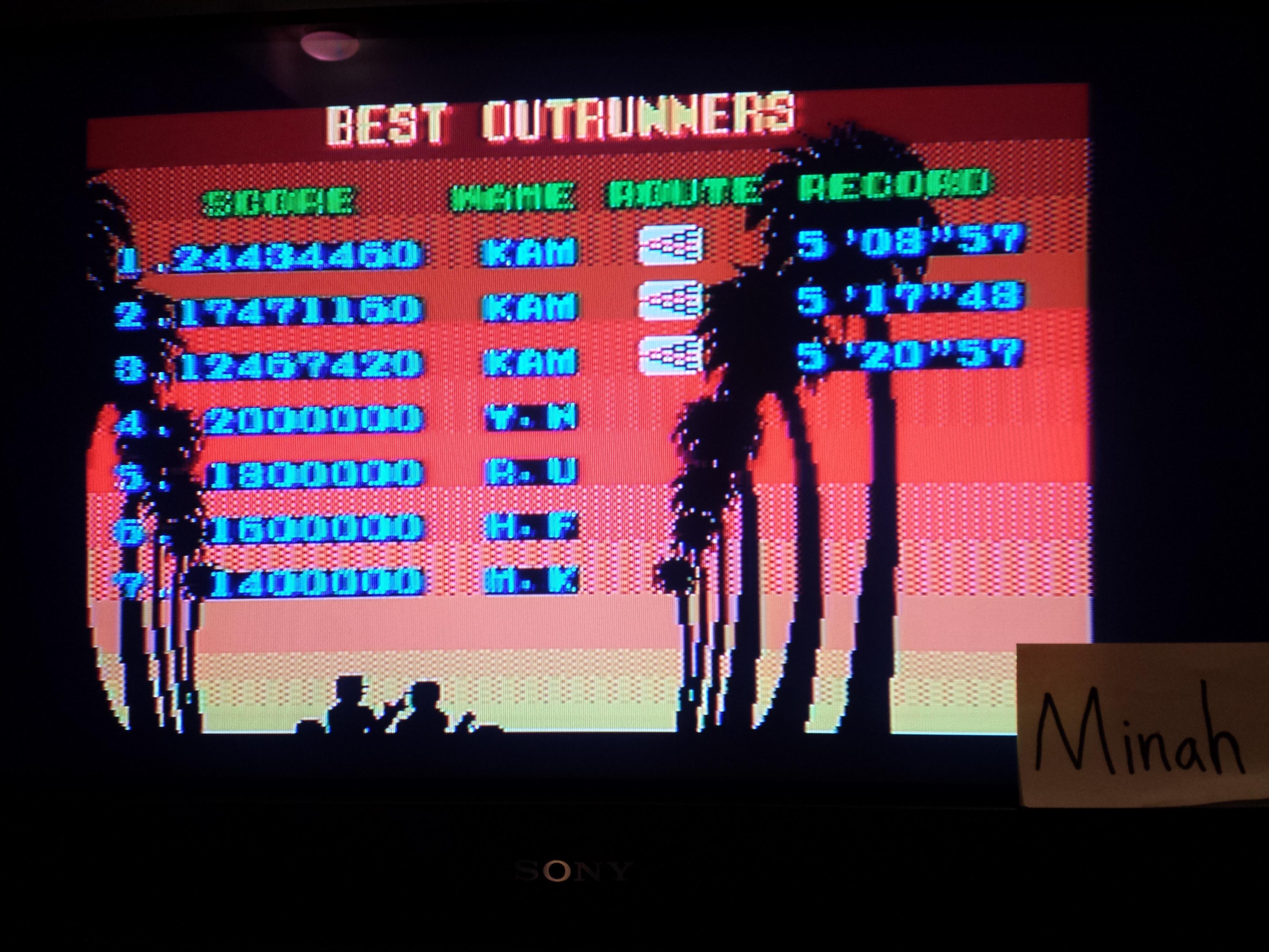Outrun 24,434,460 points