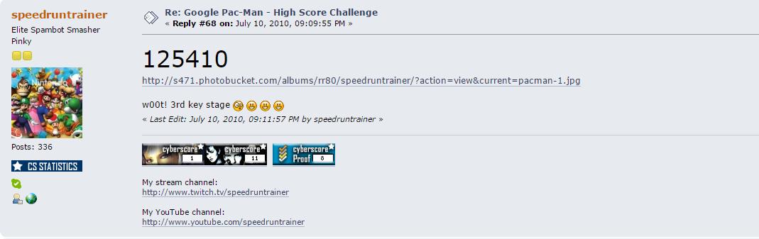 speedruntrainer: Google Pac-Man (Web) 125,410 points on 2015-04-30 17:15:18