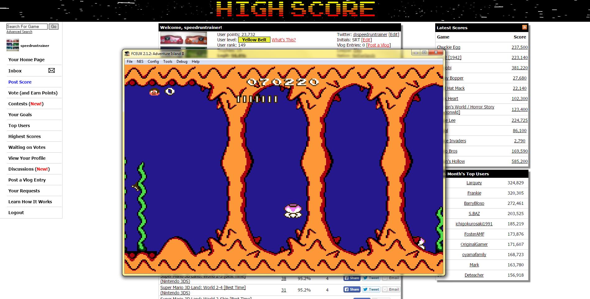 speedruntrainer: Adventure Island II (NES/Famicom Emulated) 70,220 points on 2015-04-30 17:20:30