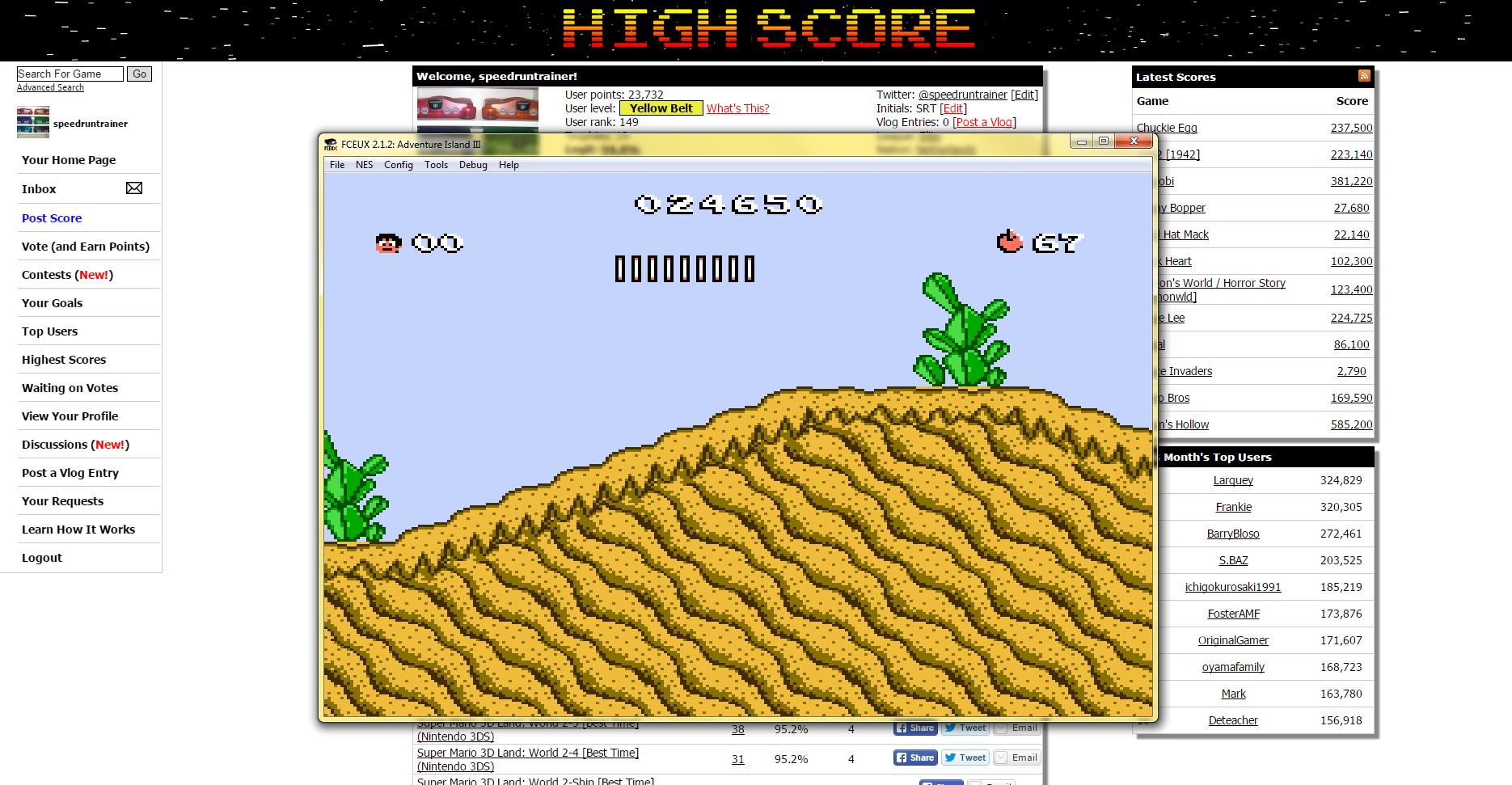 speedruntrainer: Adventure Island III (NES/Famicom Emulated) 24,650 points on 2015-04-30 17:21:56