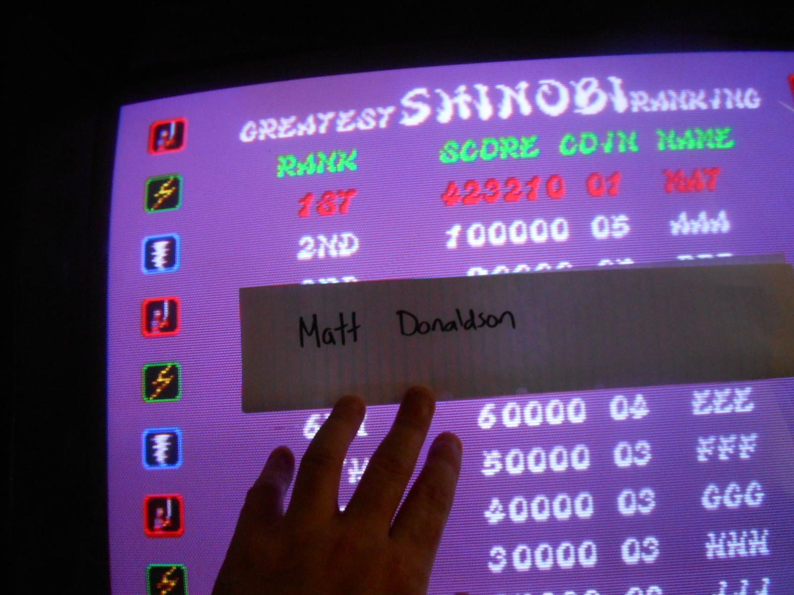 MattDonaldson: Shinobi (Arcade Emulated / M.A.M.E.) 423,210 points on 2015-04-30 20:15:49