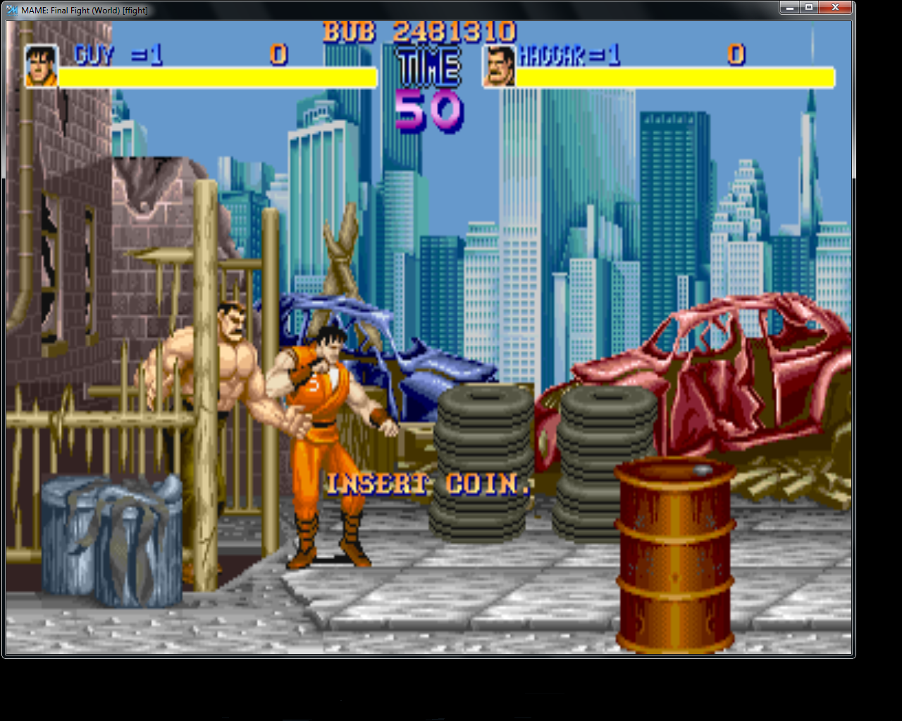 bubufubu: Final Fight (Arcade Emulated / M.A.M.E.) 2,481,310 points on 2015-04-30 21:26:56