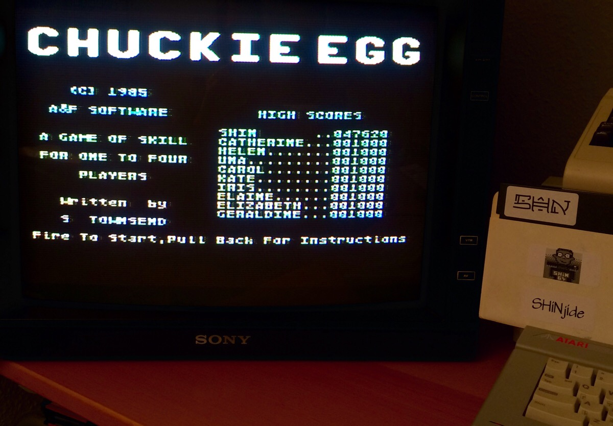 Chuckie Egg 47,620 points