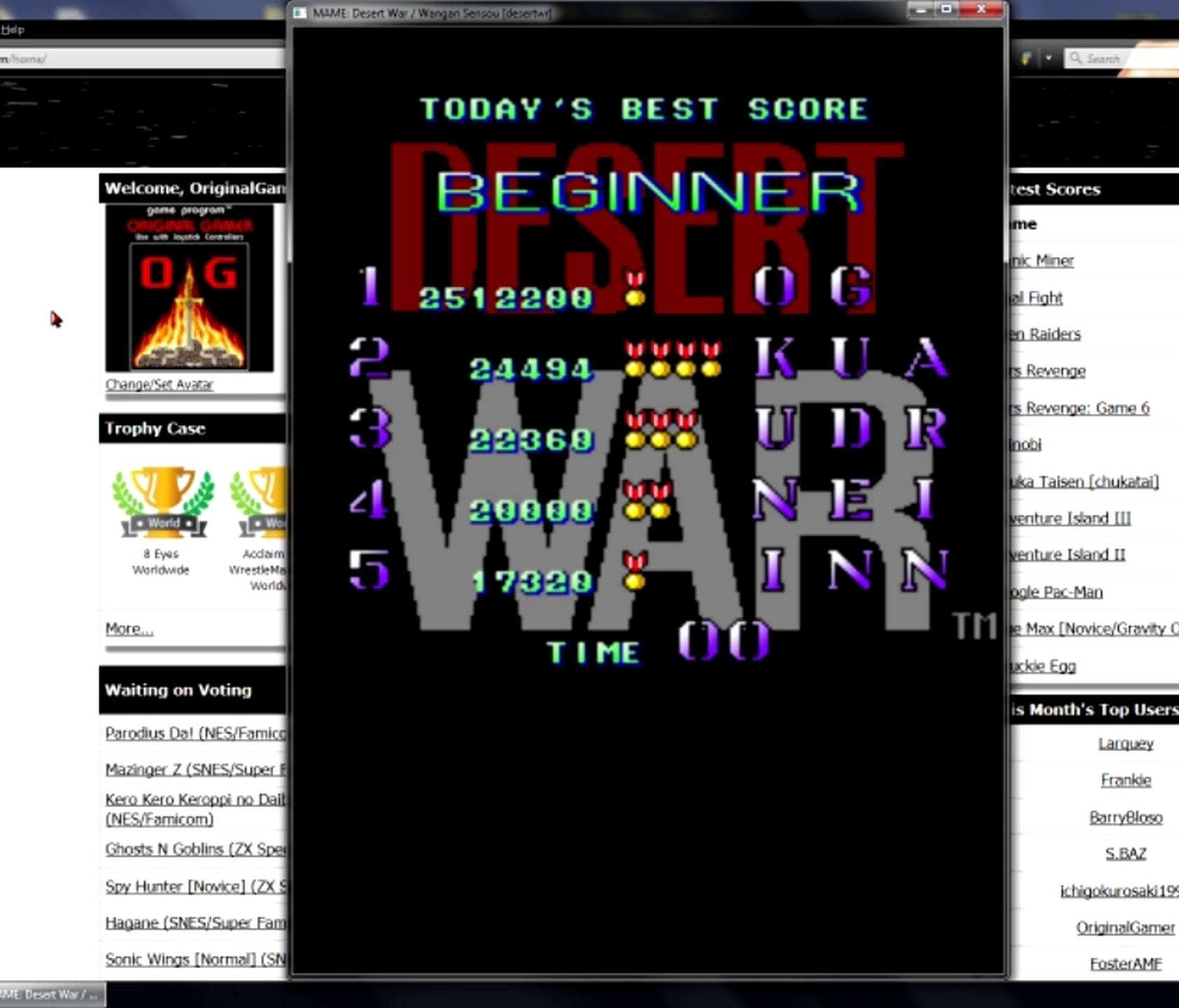 Desert War/Wangan Sensou [desertwr] 2,512,200 points