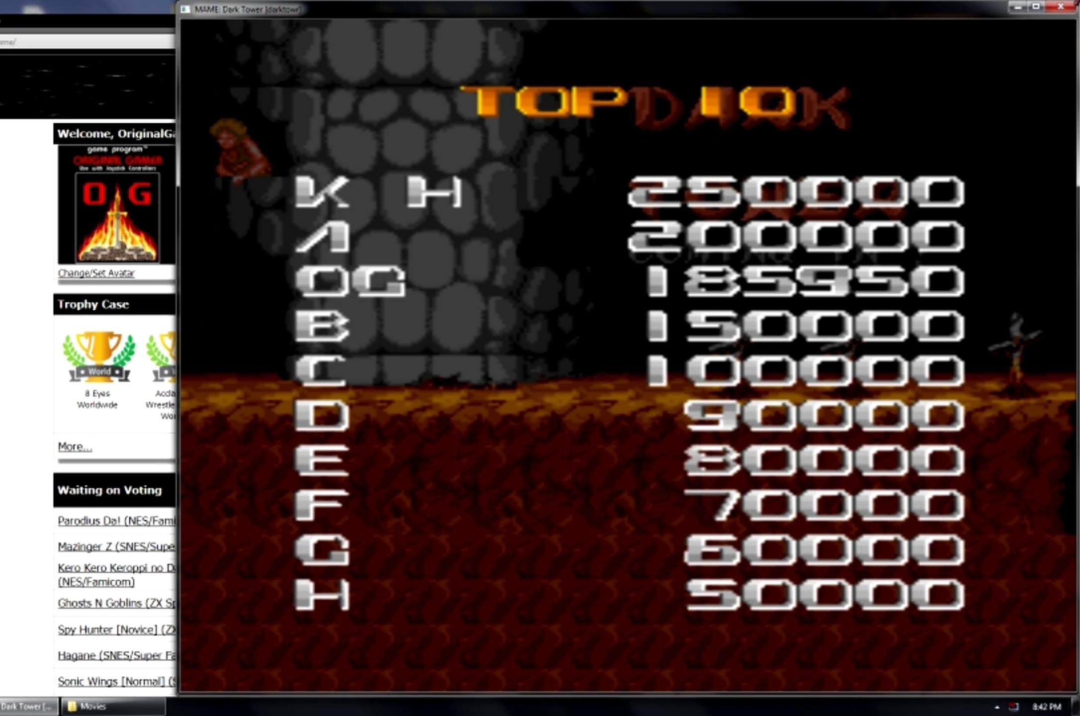 Dark Tower 185,950 points