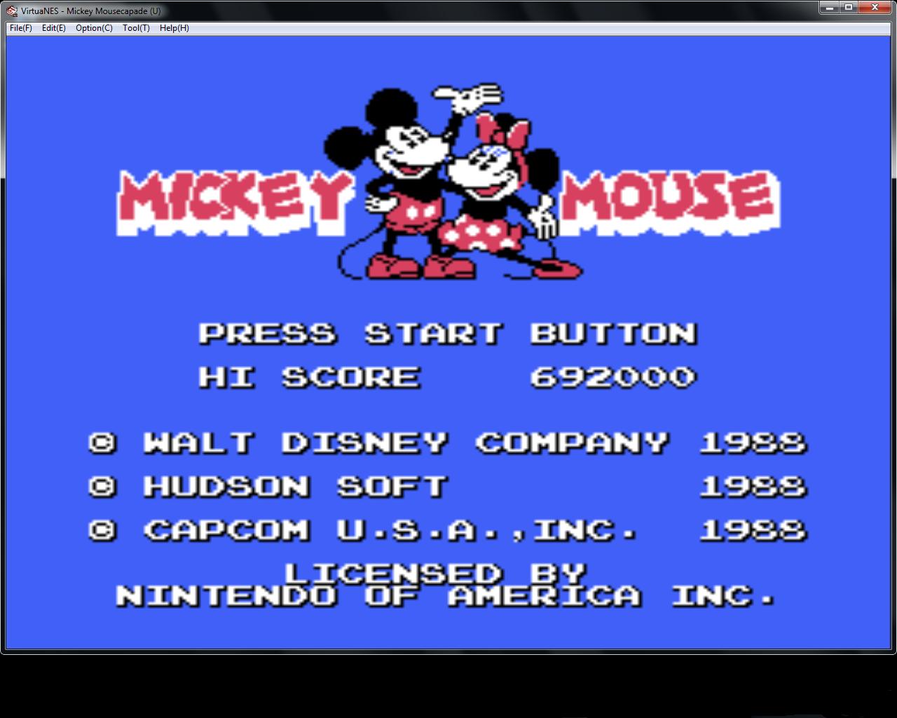 bubufubu: Mickey Mousecapade (NES/Famicom Emulated) 692,000 points on 2015-05-01 14:57:41