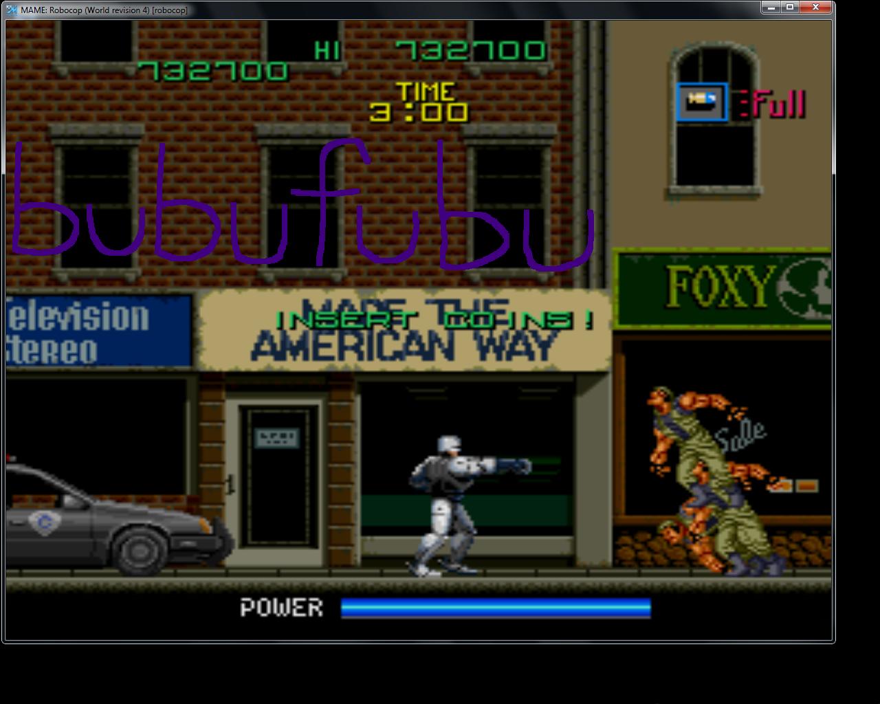 bubufubu: RoboCop [robocop] (Arcade Emulated / M.A.M.E.) 732,700 points on 2015-05-02 14:29:36