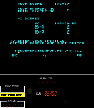 BarryBloso: Space Tactics [stactics] (Arcade Emulated / M.A.M.E.) 182,400 points on 2015-05-02 19:58:40