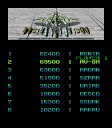BarryBloso: Task Force Harrier [tharrier] (Arcade Emulated / M.A.M.E.) 69,500 points on 2015-05-02 20:03:50
