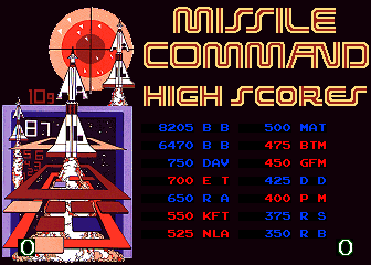 BarryBloso: Arcade Classics: Missile Command II [arcadecl] (Arcade Emulated / M.A.M.E.) 8,205 points on 2015-05-02 20:11:33