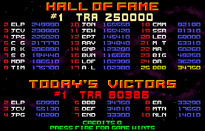 BarryBloso: Strike Force [strkforc] (Arcade Emulated / M.A.M.E.) 34,750 points on 2015-05-02 20:25:08