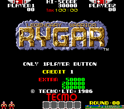Rygar 2,332,250 points