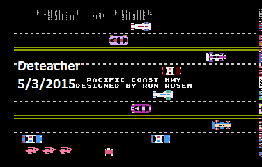 Deteacher: Pacific Coast Highway (Atari 400/800/XL/XE Emulated) 20,880 points on 2015-05-03 21:28:45