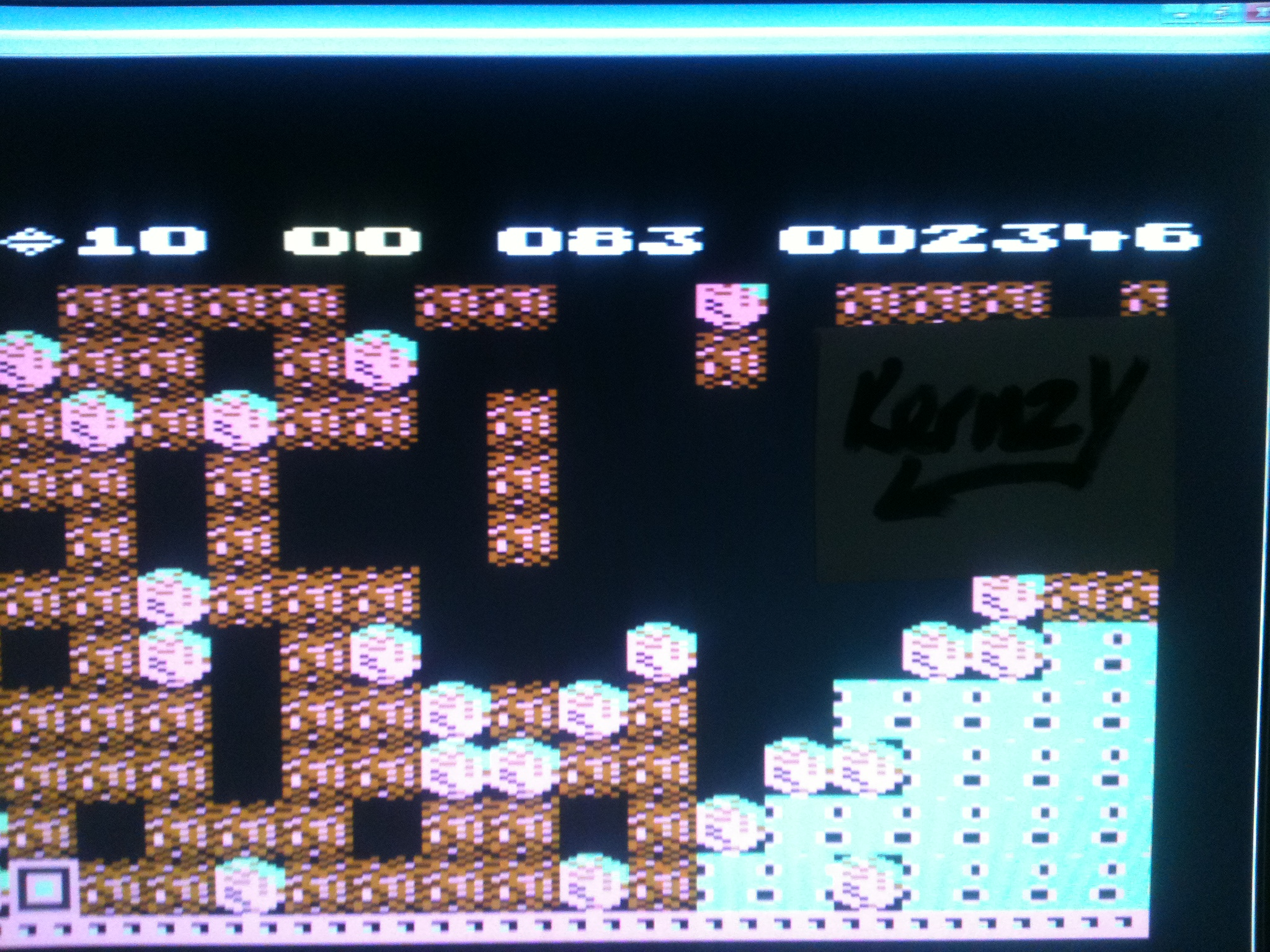 kernzy: Boulder Dash (Commodore 64 Emulated) 2,346 points on 2015-05-04 11:29:19