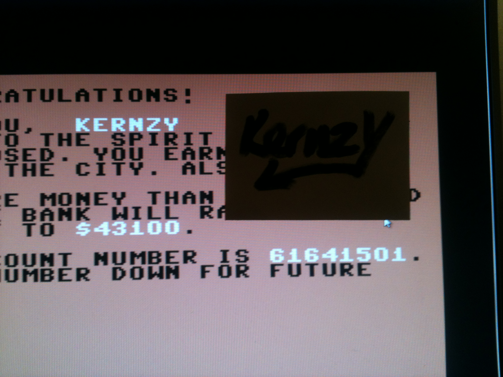 kernzy: Ghostbusters (Commodore 64 Emulated) 43,100 points on 2015-05-04 19:07:30