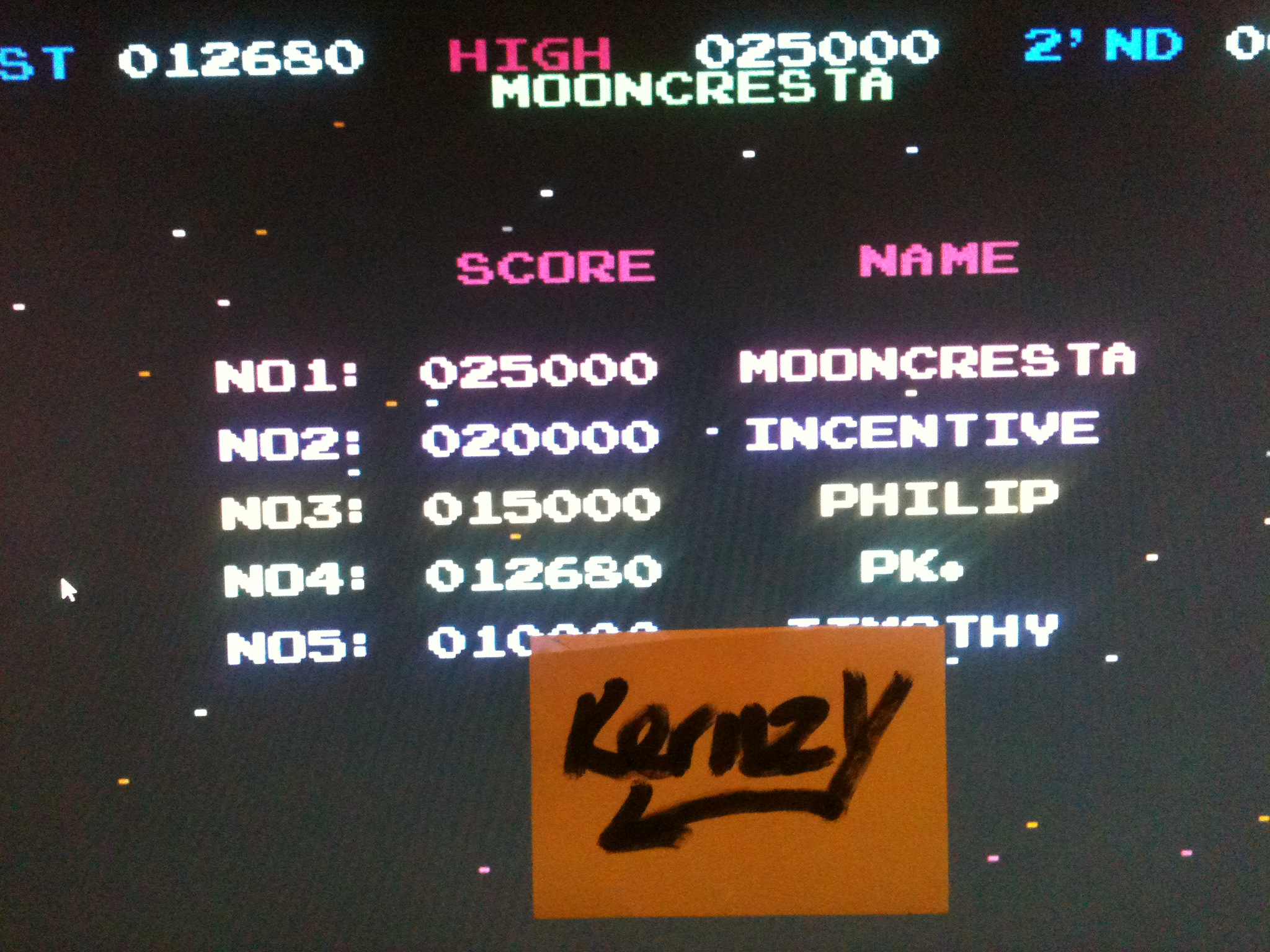 kernzy: Moon Cresta (Commodore 64 Emulated) 12,680 points on 2015-05-04 19:29:26