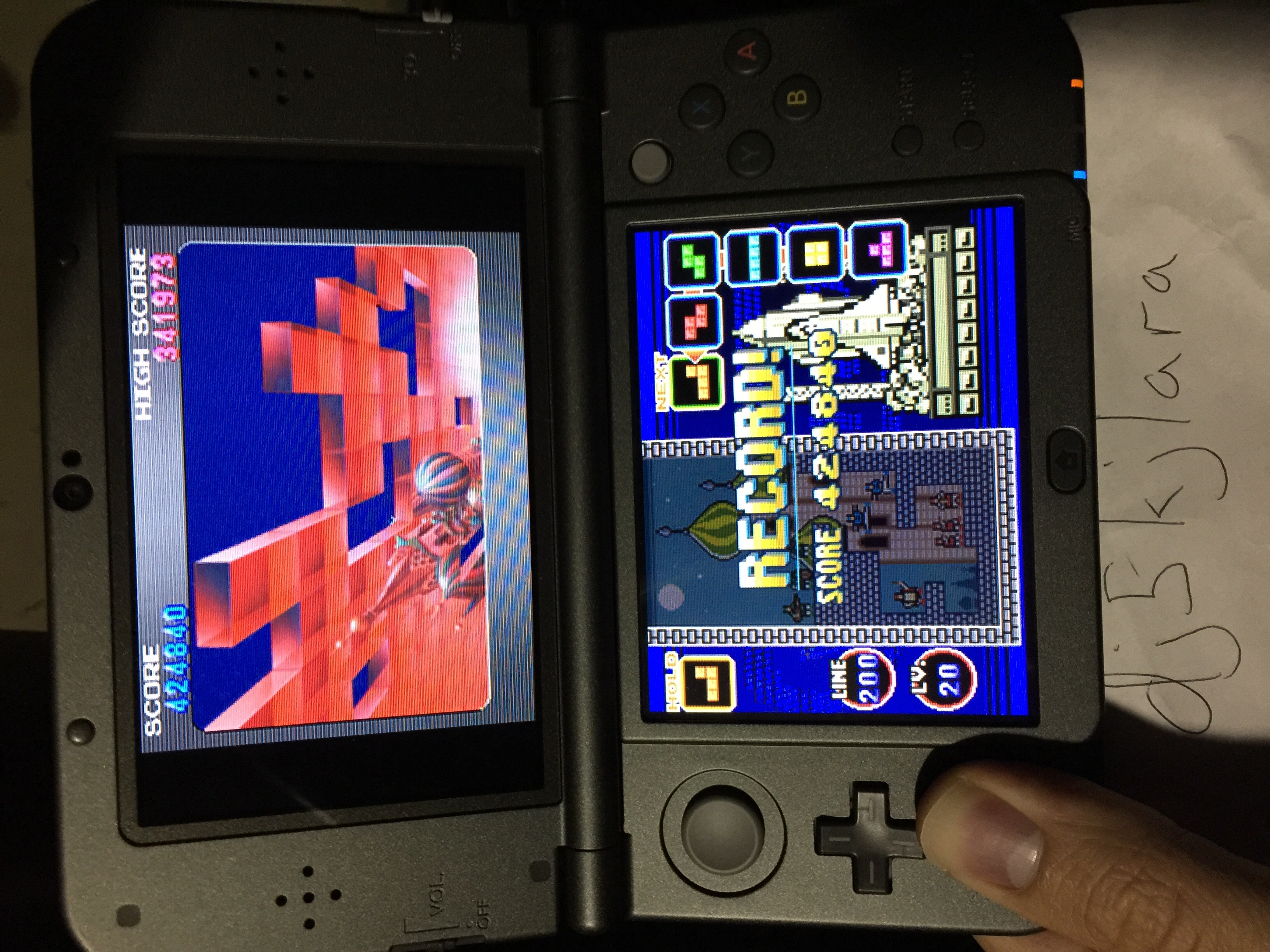 dj5kjlara: Tetris DS: Standard/Marathon [Points] (Nintendo DS) 424,840 points on 2015-05-05 13:01:32