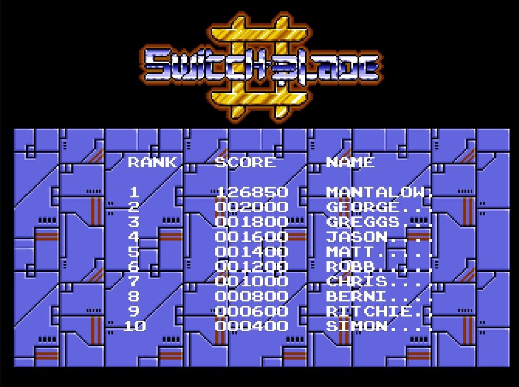Mantalow: Switchblade II (Amiga Emulated) 126,850 points on 2015-05-05 19:18:54