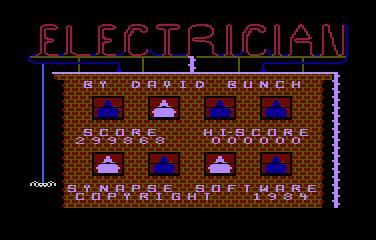 Deteacher: Electrician (Atari 400/800/XL/XE Emulated) 299,868 points on 2015-05-05 21:16:56