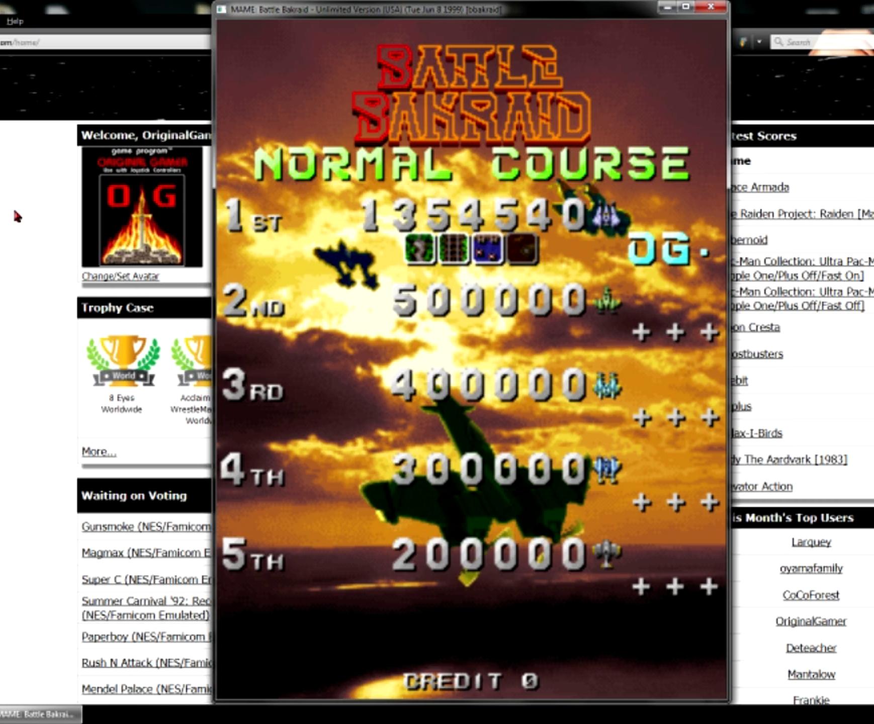 OriginalGamer: Battle Bakraid: Unlimited Version [bbakraid] (Arcade Emulated / M.A.M.E.) 1,354,540 points on 2015-05-06 00:52:16