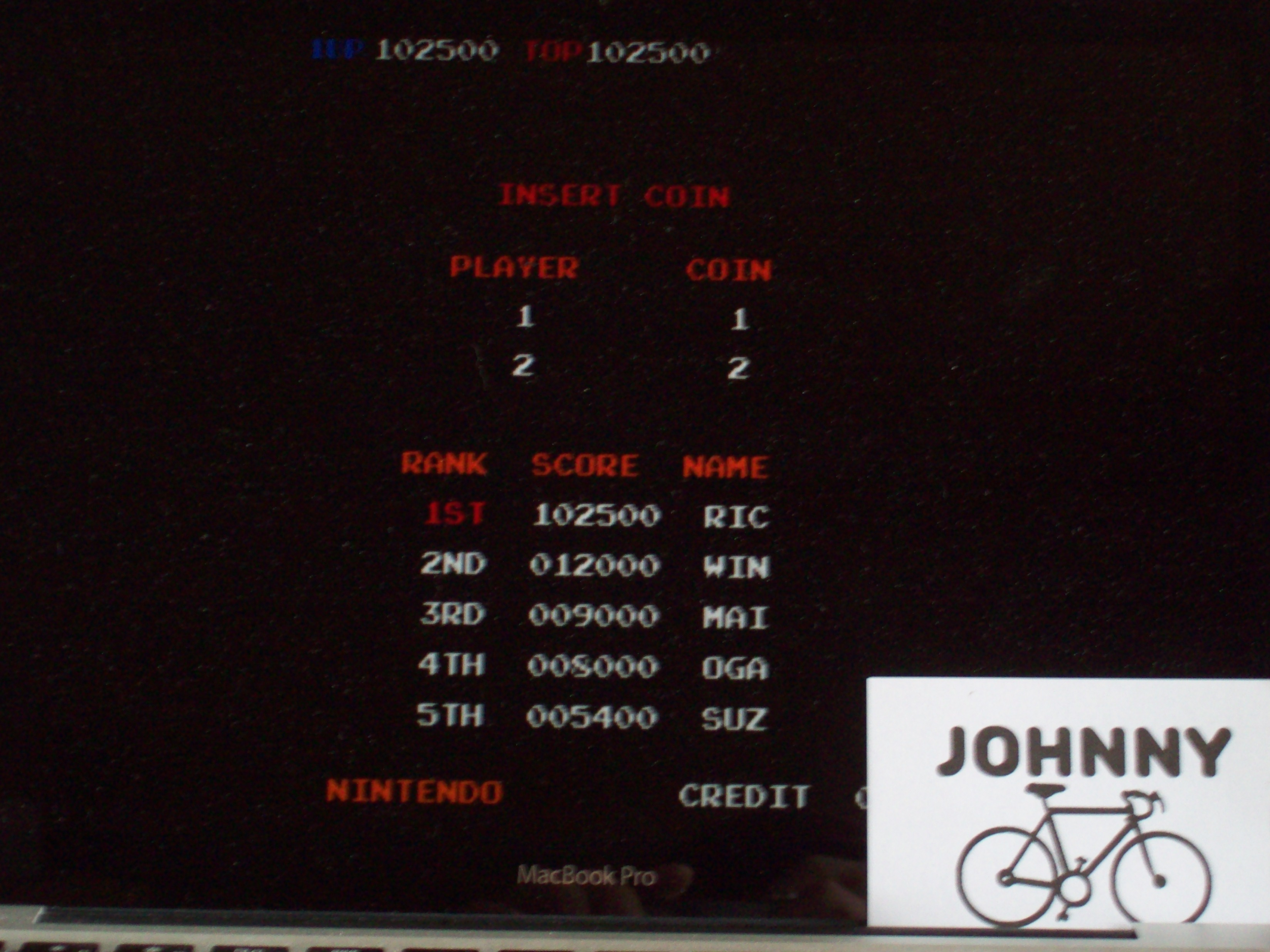 JohnnyTenspeed: Donkey Kong 3 (Arcade Emulated / M.A.M.E.) 102,500 points on 2015-05-06 11:20:52