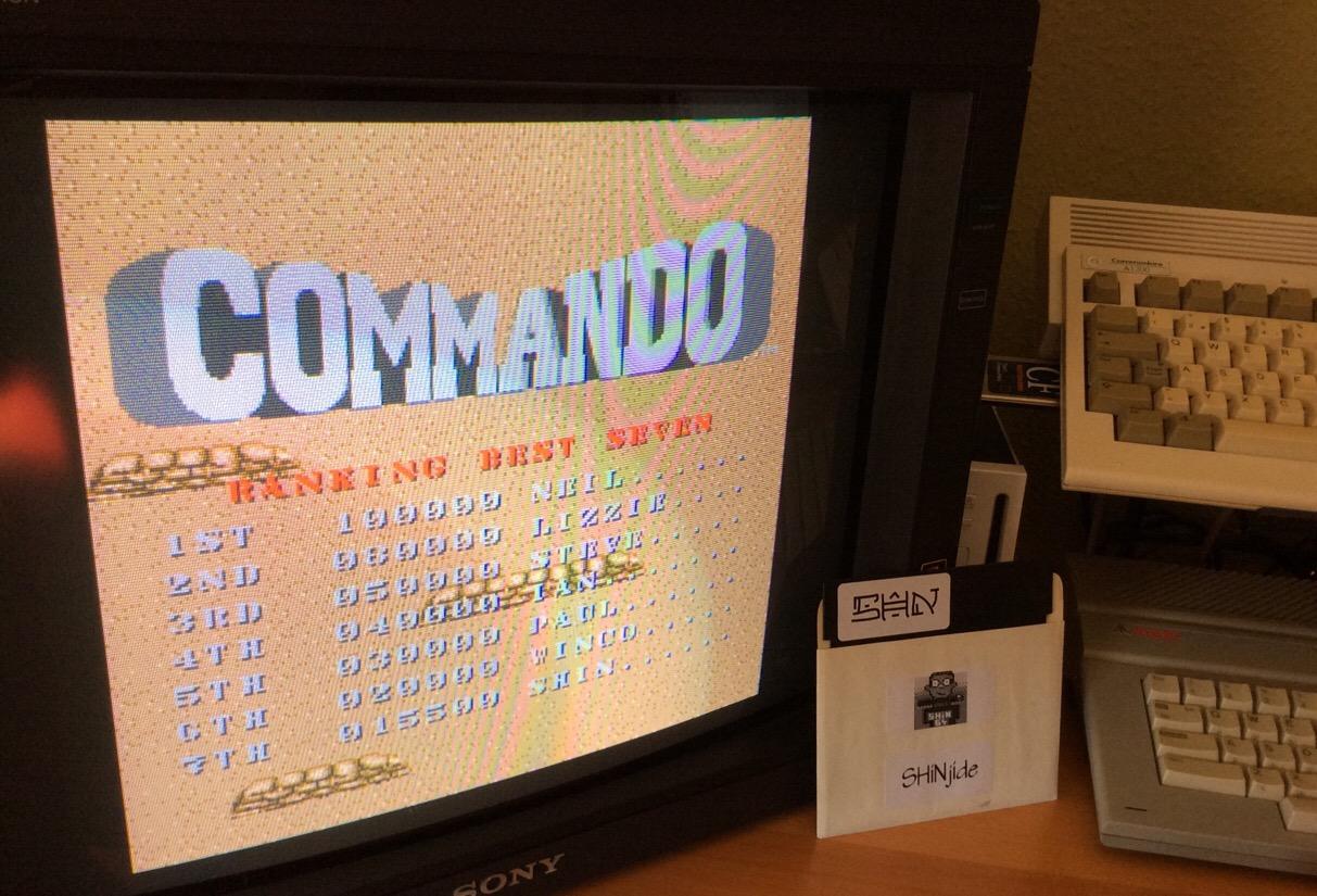 SHiNjide: Commando (Amiga) 15,500 points on 2015-05-07 01:24:38