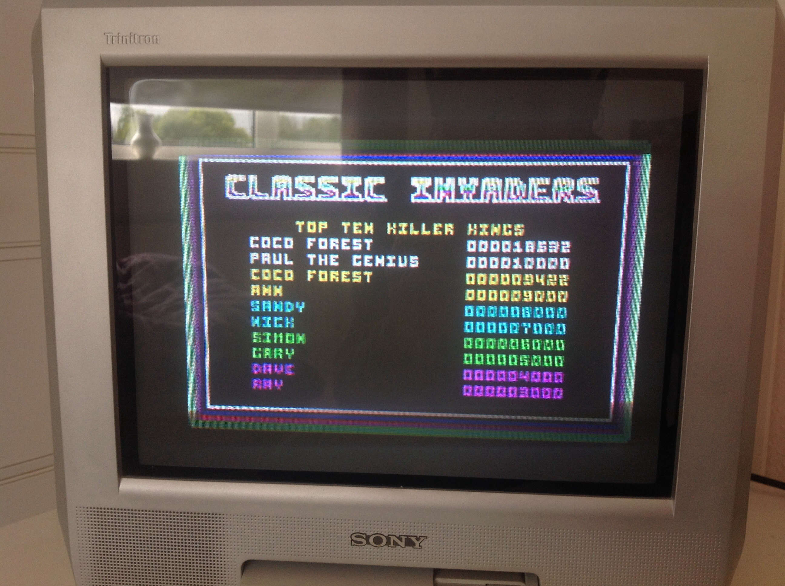 CoCoForest: Classic Invaders (Amstrad CPC) 18,632 points on 2015-05-07 08:48:28