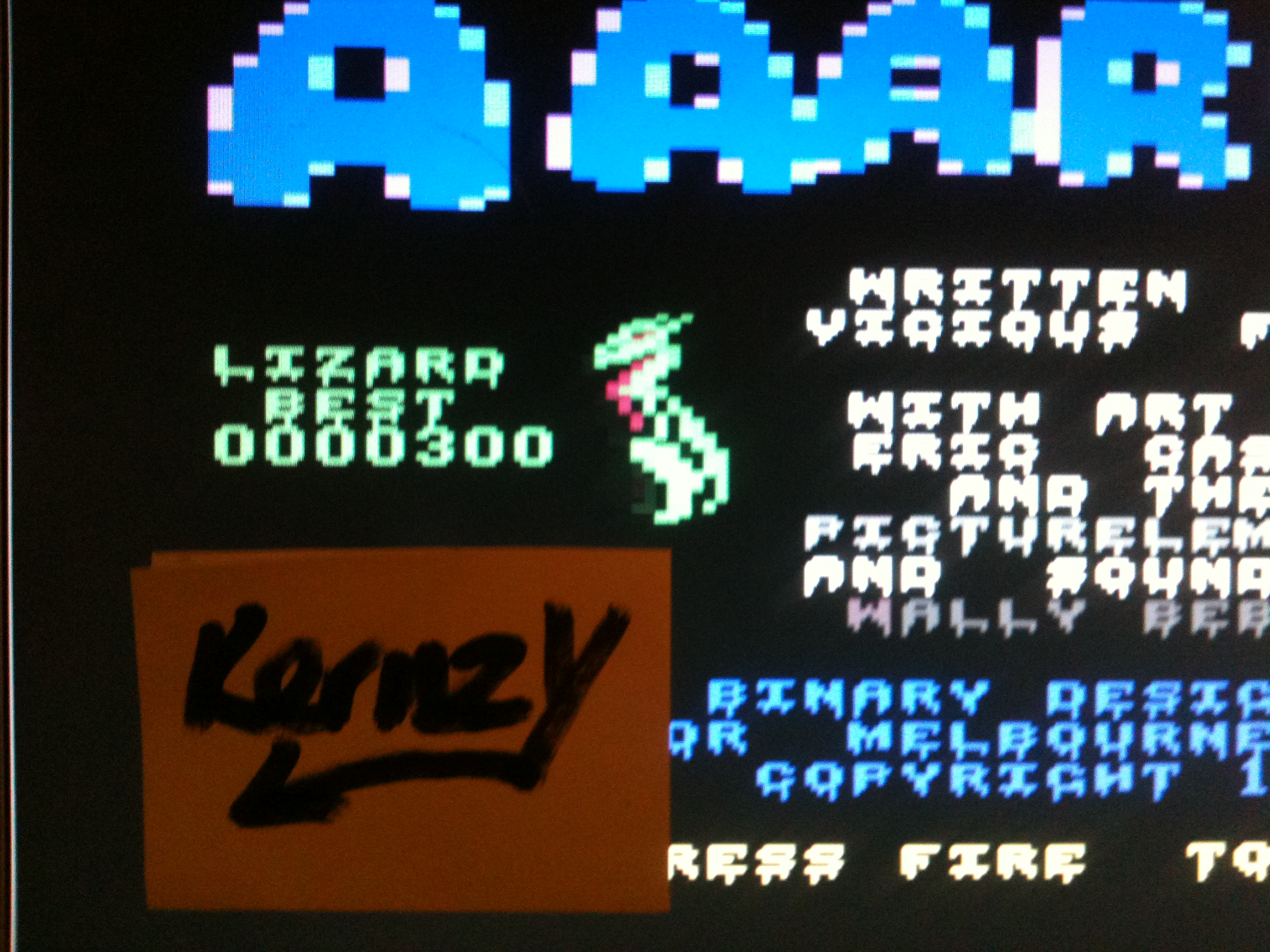 kernzy: AAARGH! (Commodore 64 Emulated) 300 points on 2015-05-07 17:06:56