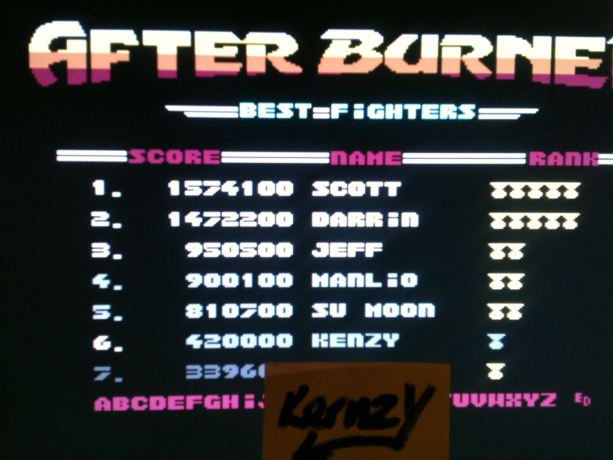 kernzy: After Burner [USA/Mindscape] (Commodore 64 Emulated) 420,000 points on 2015-05-07 17:21:50