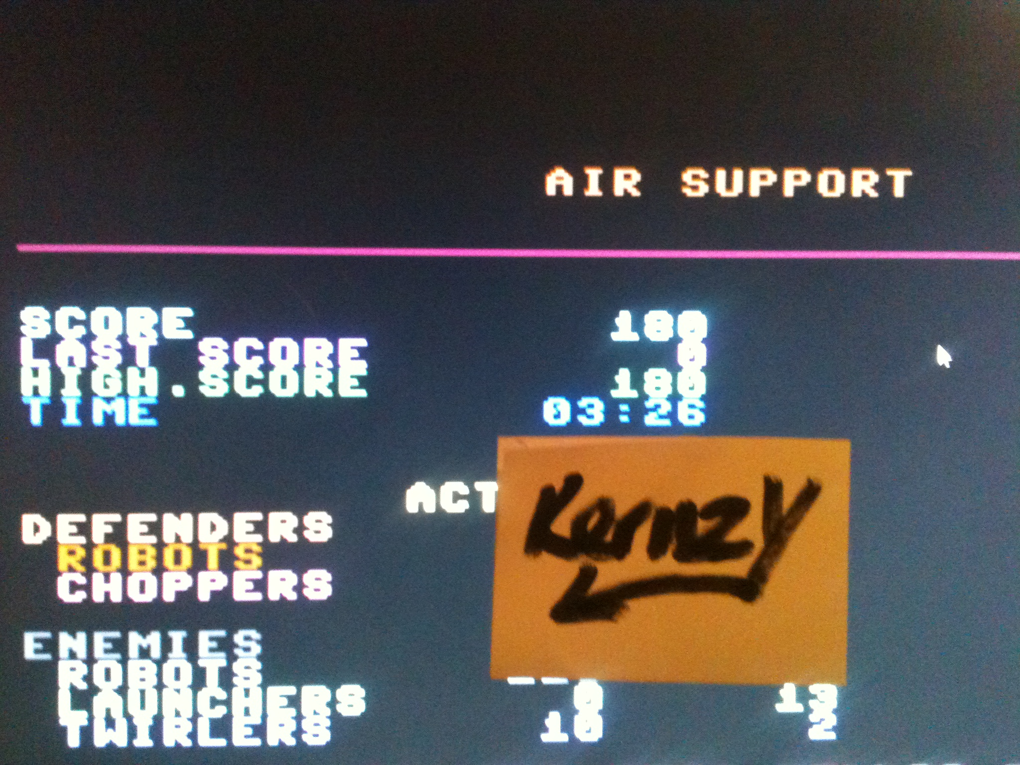 kernzy: Air Support (Commodore 64 Emulated) 180 points on 2015-05-07 17:48:34